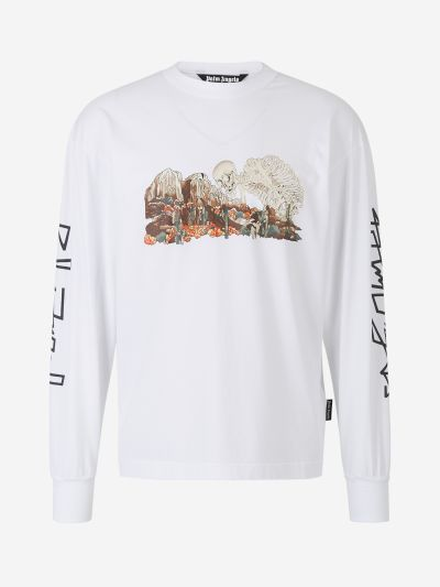 Long sleeve T-Shirt skull desert