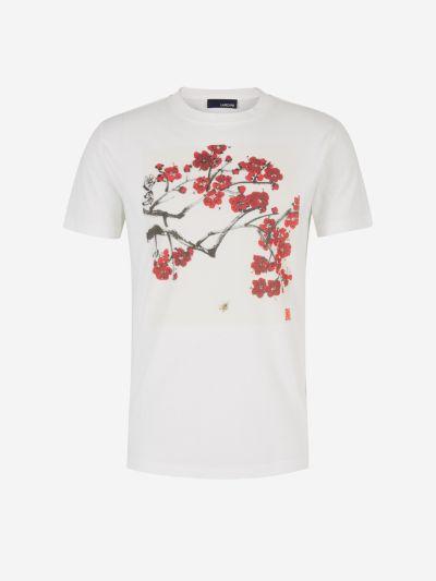 Cherry Flower Print T-Shirt