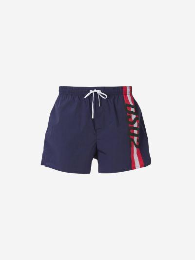 Logo Stripes Swim Shorts
