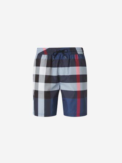 Checkered Swim Shorts