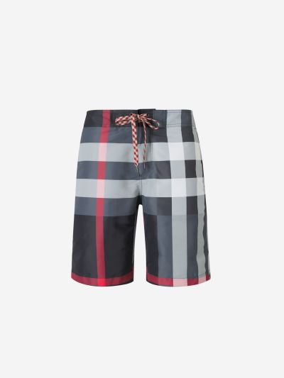 Checkered Swim Shorts