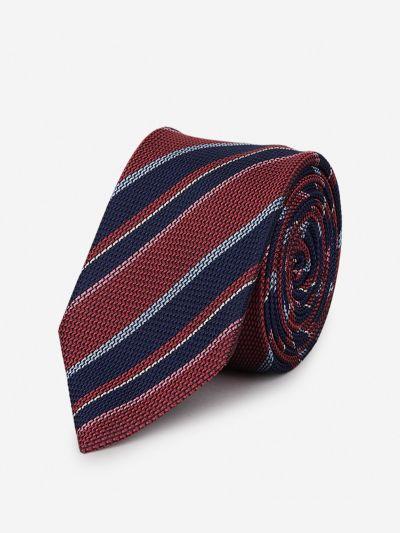 Silk tie with diagonal stripes