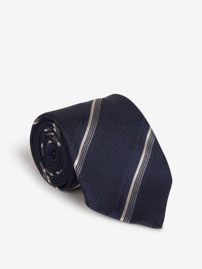 Silk Striped Motif Tie
