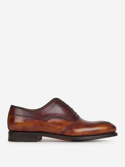 Oxford semi-brogue shoes