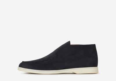 Nubuck leather bootie moccasins