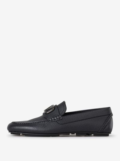 VLogo Leather Loafers