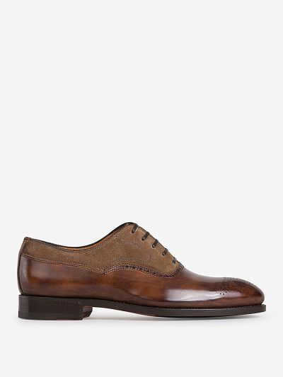 Semi Brogue Leather Shoes
