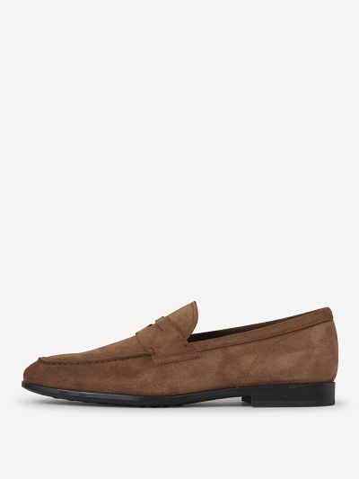 Rubber Sole Suede Loafers