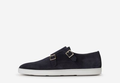 Double Buckle Suede Shoes