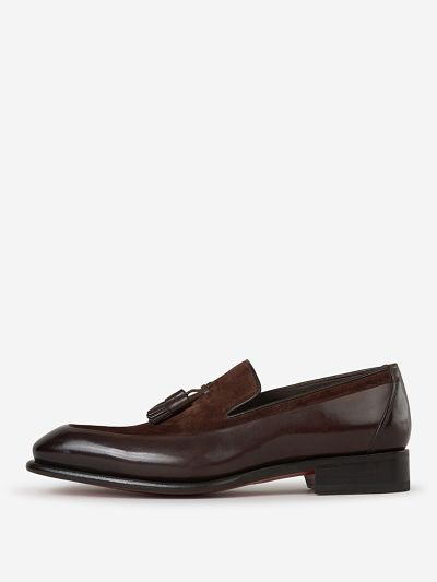 Leather and Suede Loafers