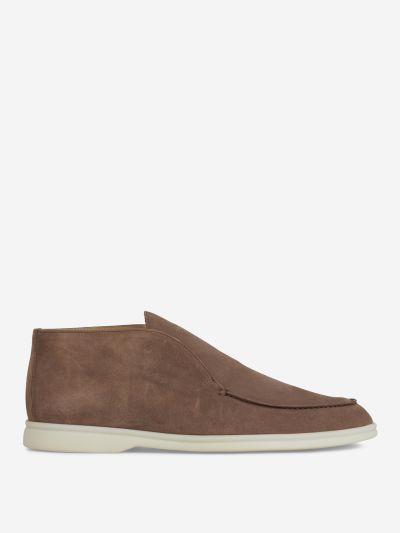 Nubuck Leather Ankle Boots