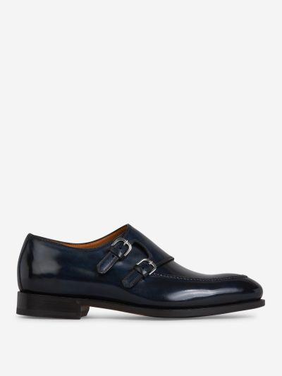 Double-Buckle Monk Shoes