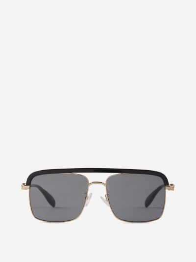 Square Metallic Sunglasses