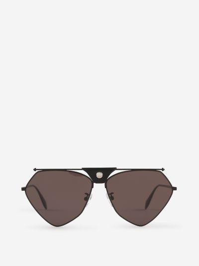 Skull Aviator Sunglasses