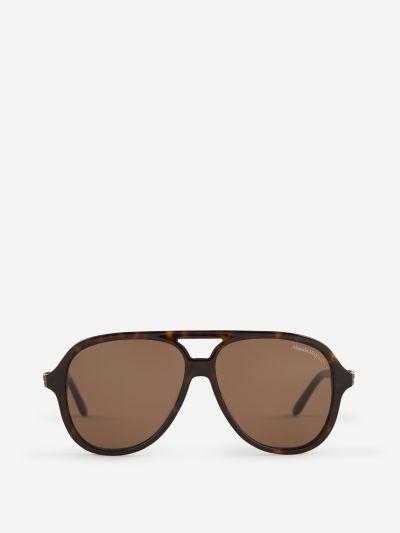 Chain Aviator Sunglasses
