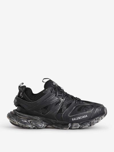 Vintage Effect Track Sneakers