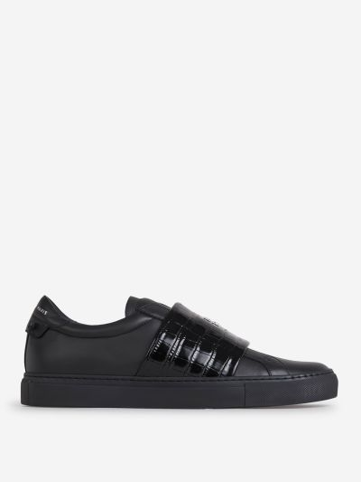 Croco Effect Leather Sneakers