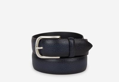 Granulated leather belt