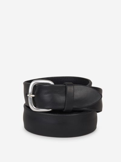 Soft bull leather belt