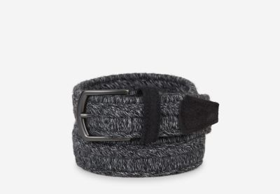 Braided belt with a suede leather detail