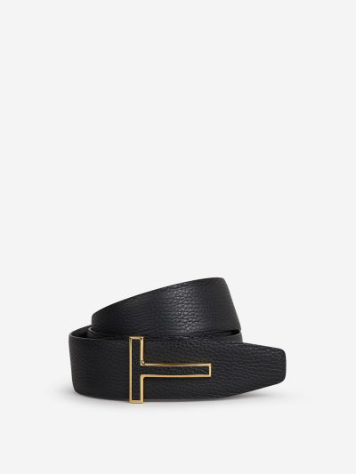 Belt with Monogram Buckle