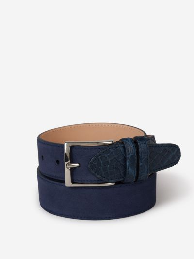 Suede Croco Belt
