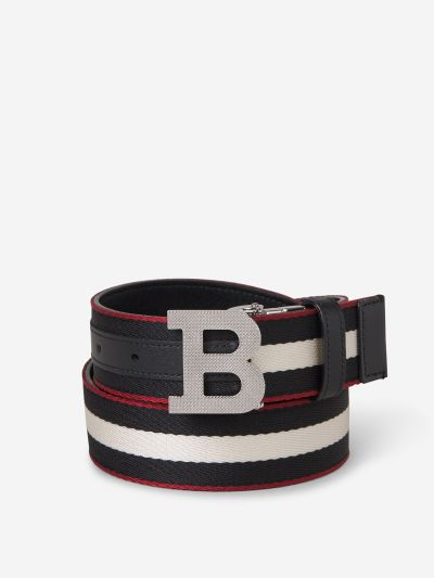 Monogram Striped Belt