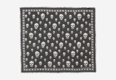 Silk scarf with skulls