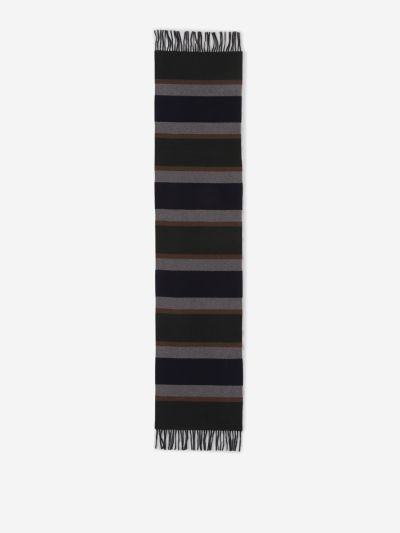 Wool Striped Motif Scarf