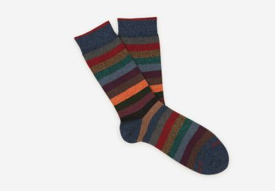 Colourful striped socks