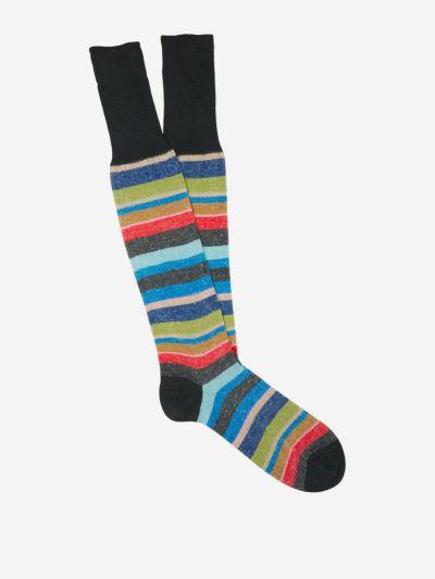Striped Cotton-Linen Socks