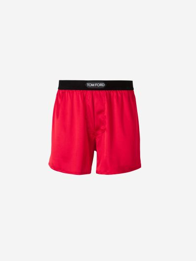 Satin silk boxer shorts