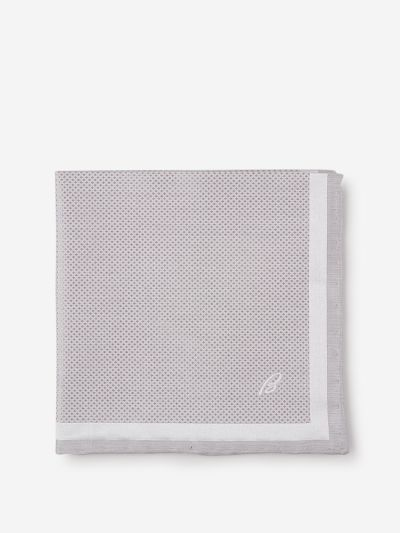 Silk pochette with a diamond pattern