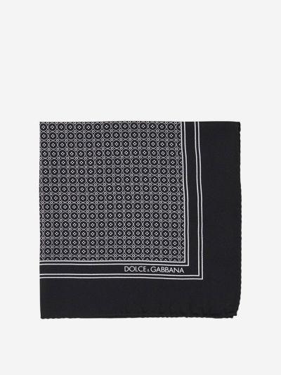 Tie printed silk pochette