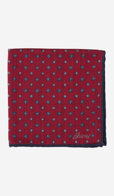 Rhombus Print Pocket Square