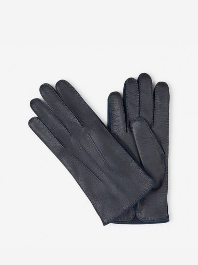 Gloves with knitted lining