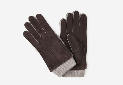 Leather  knitted  gloves