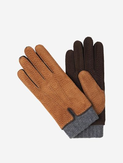 Suede and Cashmere Gloves