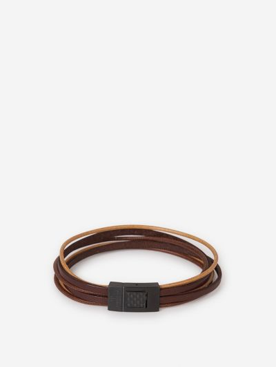 Gunmetal Leather Bracelet