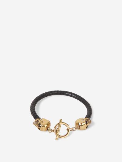 Skulls Leather Bracelet