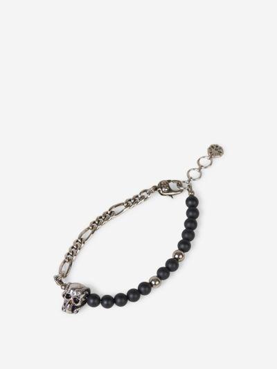 Snake Skull Charm Bracelet