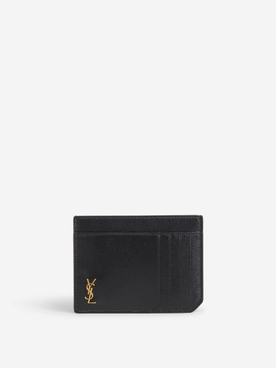 Logo Leather Card Holder