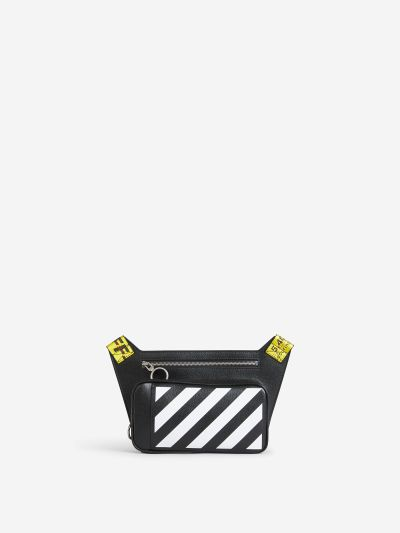 Diagonals Leather Crossbody Bag