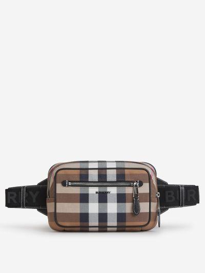 Checkered Motif Belt Bag