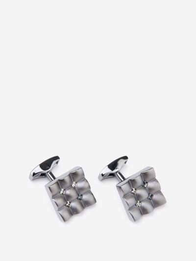 Swarovski square cufflinks