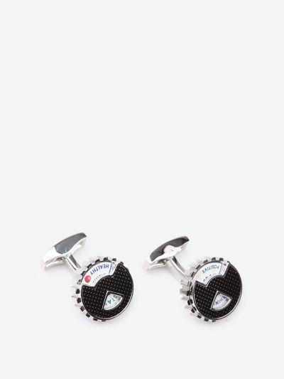 Whimsical wheel cufflinks