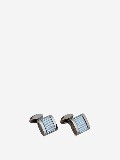 Blue Alutex Gunmetal Cufflinks