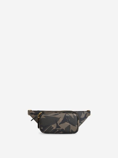 Camouflage Leather Belt Bag
