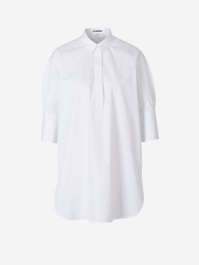 Shirt cover with puffed sleeves