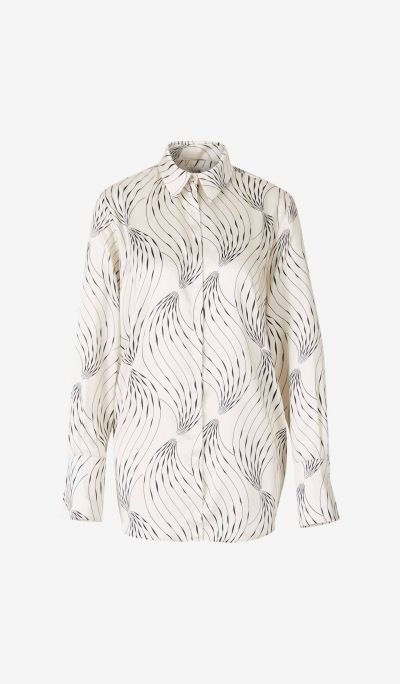 Printed Satin Twill Shirt